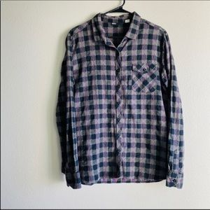 Urban Outfitters BDG plaid hearts button up